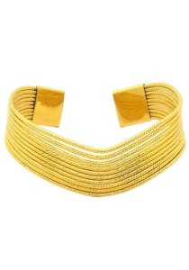 Arche 18K Gold Plated Twisted Cord Charm Bracelet (Gold)