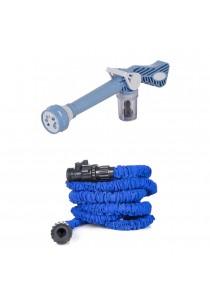ASOTV Combo EZ Jet Water Cannon X Hose Expandable Garden Hose + Free Universal Faucet Connector (Blue)