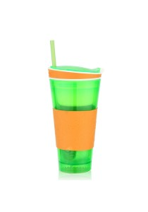 ASOTV Snackeez - 2-in-1 Snack and Drink Cup! - Green/Orange [SNA-G]