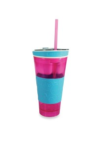 ASOTV Snackeez - 2-in-1 Snack and Drink Cup! - Pink/Blue [SNA-P]