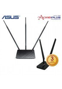 Asus RT-N14UHP 300Mbps High Power Wireless Router + Asus USB-N14 300Mbps Wireless USB Adapter