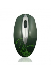Atake Retactable 3D Optical Mouse USB Tinkle Bell (Green)