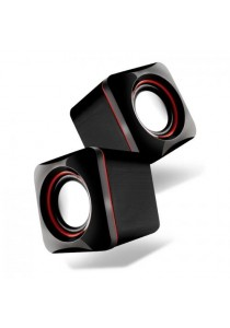 AudioBox U-Cube USB Powered 2.0 Speakers-Red