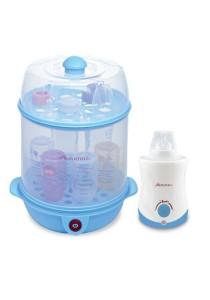 Autumnz 2-in1 Steriliser/Food Steamer + Home & Car Warmer Combo (Blue)