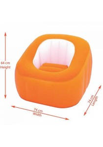 Bestway Comfort Quest Comfy Cube Inflatable Chair 29 x 29 x 25 inch Orange