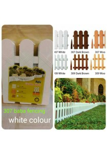 Baba 307 Plastic Fencing (4 Pcs) White - Home Garden Deocration