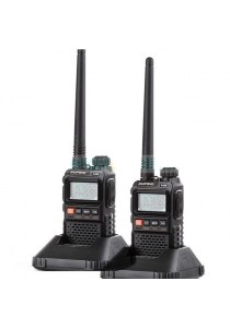 Baofeng Mini Pocket Walkie Talkie UHF VHF Radio Mark III UV-3R - 1 Set (2 Pcs)