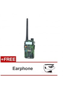 "Baofeng UV-5R 1.5"" LCD 5W Dual Band 128-CH Walkie Talkie (Camouflage) + Earphone"