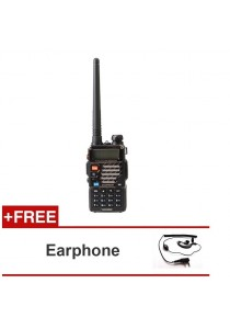 Baofeng UV-5RE 5W 128CH VHF/UHF Dual Band Portable Two Way Walkie Talkie + FREE Earphone