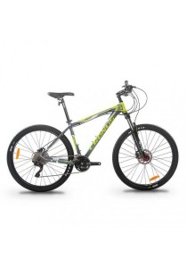 "Cronus Baturo 650BN 27.5"" MTB Mountain Bike with Shimano 30-Speed (Grey/Green) CT:15.5"""