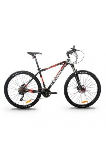 "Cronus Baturo 650BN 27.5"" MTB Mountain Bike with Shimano 30-Speed (Black/Red) CT:15.5"""
