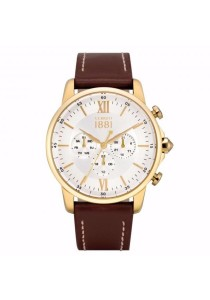 Cerruti 1881 CTCRA081SG01DB-I Terra Multifunction Brown Leather Strap Men Watch