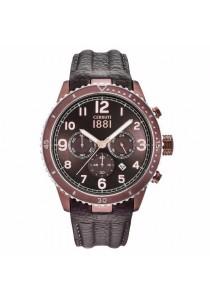 Cerruti 1881 CTCRA104SBR12BR Chronograph Brown Leather Strap Men Watch
