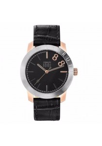 Cerruti 1881 CTCRA154SRU02BK Lagonegro Black Leather Strap Men Watch