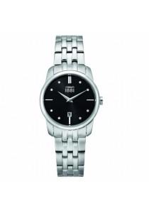 Cerruti 1881 CTCRM117SN02MS All Stainless Steel Black Dial Ladies Watch