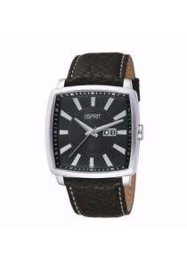 ESPRIT Smart Trick Black ES101871001 Black Leather Strap Square Dial Men Watch
