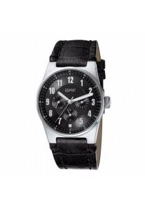 ESPRIT Live Up ES101912002 Black Leather Strap Ladies Watch