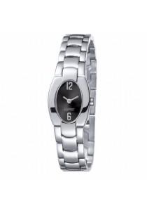 ESPRIT Art Deco Silver Black ES102272002 All Stainless Steel Black Dial Ladies Watch