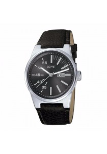 ESPRIT Legend Black ES102301001 Black Leather Strap Black Dial Men Watch
