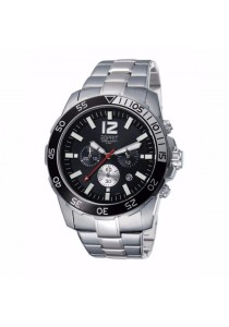 ESPRIT Athlelic Silver Black ES102511004 All Stainless Steel Black Dial Chronograph Men Watch