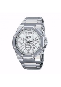 ESPRIT Octo Chrono Silver All Stainless Steel White Dial Chronograph Men Watch