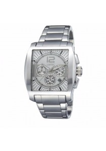 ESPRIT Impulse White ES103641002 All Stainless Steel Square Dial Chronograph Men Watch