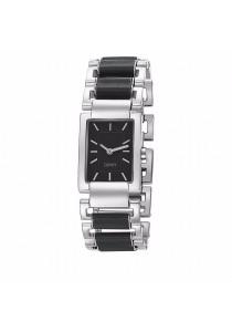 ESPRIT Pura Black ES104252001 Two Tone Stainless Steel Black Square Dial Ladies Watch