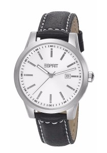 ESPRIT Stormy Black ES105031001 Black Leather Strap Men Watch