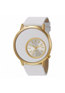 ESPRIT Copa Gold ES105672003 White Leather Strap IP Gold Case Ladies Watch