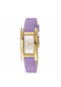 ESPRIT Vivid Purple ES106162007 Light Purple Leather Strap Ladies Watch