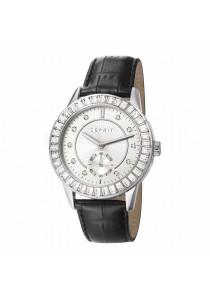 ESPRIT Es-Seren Black ES107422001 Black Leather Strap Silver Dial Ladies Watch
