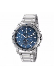 ESPRIT Es-Nathan Chrono Silver Blue ES107521003 All Stainless Steel Blue Dial Chronograph Men Watch