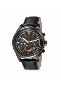 ESPRIT Es-Ray Chrono Night ES107541003 Black Leather Strap Black Dial Chronograph Men Watch
