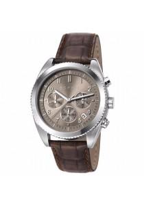 ESPRIT Es-Kai Chrono Brown ES107581003 Brown Leather Strap Chronograph Men Watch