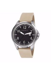 ESPRIT Tallac Brave Nubuck Sand ES107601001 Beige Leather Strap Black Dial Men Watch