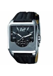 PUMA PU101691002 Top Engine Chronograph Silver Black Leather Strap Men Watch