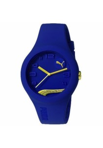 PUMA PU103001016 Form Blueberry Gold Silicone Strap Ladies Watch