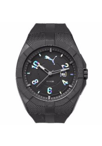 PUMA PU103501012 Iconic Black Rainbow PU Strap Men Watch