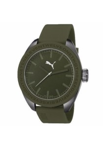 PUMA PU103731005 U-turn Olive PU Strap Men Watch
