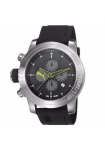 PUMA PU103791002 Impulse Silver Black PU Strap Chronograph Men Watch