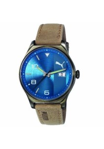 PUMA PU103861004 Retro GT Leather Blue Men Watch