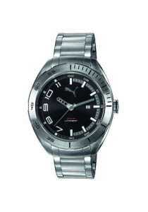 PUMA PU103951005 Octane II Metal Silver Black Men Watch