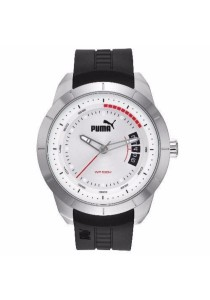 PUMA PU104191004 PUMA Silver PU Strap Men Watch