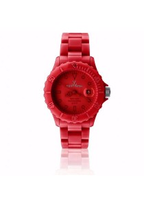 ToyWatch Monochrome Red Plasteramic Unisex Watch