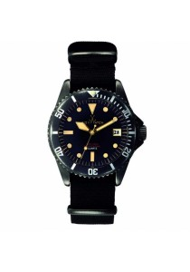 ToyWatch Vintage Black Canvas Strap Men Watch