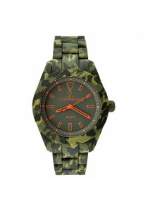 ToyWatch Velverty Camouflage Collection Green Army Silicone Rubber Strap Men Watch