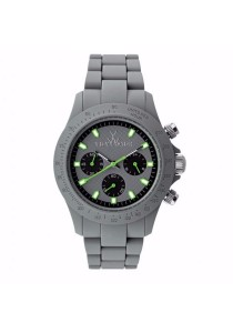 ToyWatch Velverty Chrono Collection Grey Silicone Rubber Strap Unisex Watch
