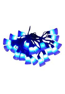 20 LED Straight Line Bell Light (Blue)