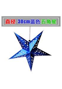 30cm Metalic Paper Star (Blue)