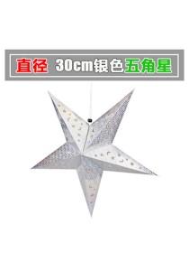 30cm Metalic Paper Star (Silver)